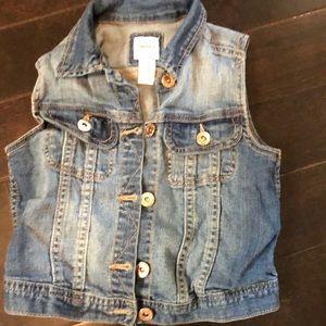 Forever 21 girls jean vest size 7/8 EUC